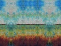 De kleurrijke textuur van de batikstof Royalty-vrije Stock Foto