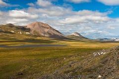 De kleurrijke toendra van de herfstchukotka, Chukotka Rusland Stock Foto's