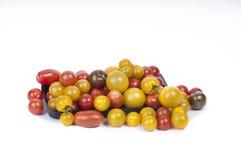 De kleurrijke Tomaten van de Kers stock fotografie