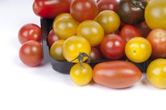 De kleurrijke Tomaten van de Kers Royalty-vrije Stock Afbeelding