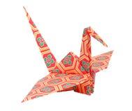 De kleurrijke traditionele Japanse origamivogel isoleert Royalty-vrije Stock Foto's