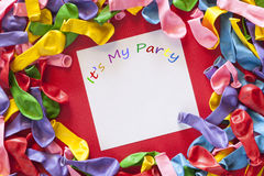 De kleurrijke Uitnodiging van de Partij Stock Foto's