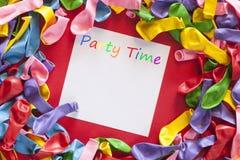 De kleurrijke Uitnodiging van de Partij Royalty-vrije Stock Fotografie