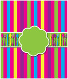 De kleurrijke uitnodiging van het bestek royalty-vrije illustratie