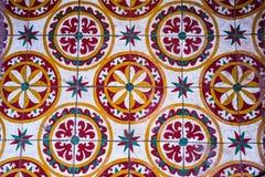 De kleurrijke Uitstekende van het de tegelpatroon van de stijlvloer textuur en de achtergrond Stock Fotografie