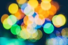 De kleurrijke Vage Lichten van Bokeh Defocused stock afbeeldingen