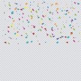 De kleurrijke Vector van de Confettienpremie Royalty-vrije Stock Fotografie
