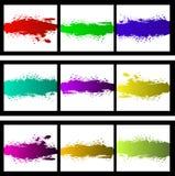 De kleurrijke Vector Van de Achtergrond plons van de Selectie Royalty-vrije Stock Foto