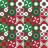 De kleurrijke vectorachtergrond van het tegels naadloze patroon Traditionele overladen decoratieve tegels stock illustratie