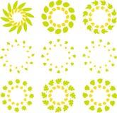 De kleurrijke vectorreeks van het embleemmalplaatje Stock Foto's
