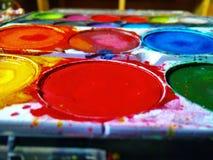 De kleurrijke verf Royalty-vrije Stock Foto's