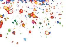 De kleurrijke verf ploetert Stock Afbeeldingen
