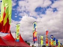 De kleurrijke Vlaggen van het Festival stock afbeeldingen