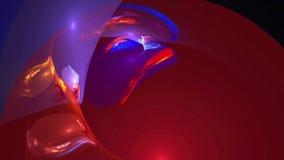 De kleurrijke vlakke achtergrond van de patroon abstracte motie royalty-vrije illustratie