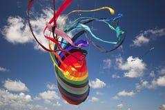 De kleurrijke Vlieger van de Fantasie stock afbeeldingen