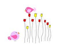 De kleurrijke vogels spreken met elkaar Royalty-vrije Stock Afbeelding