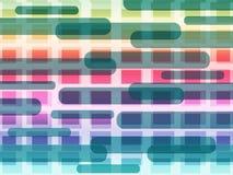 De kleurrijke Vormenachtergrond betekent Vierkanten en Oblongs Royalty-vrije Stock Fotografie