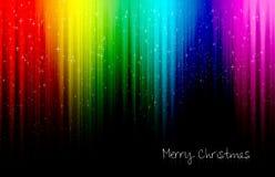 De kleurrijke wens van Kerstmis Stock Afbeelding