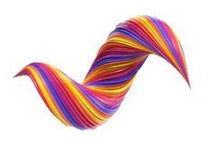 De kleurrijke werveling van de gradiënt 3D verf vector illustratie