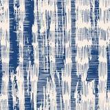 De kleurstof naadloos patroon van de indigo vectorband stock illustratie