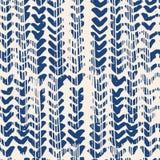 De kleurstof naadloos patroon van de indigo vectorband vector illustratie