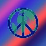 De KLEURSTOF van TIE van de Vrede van de wereld Royalty-vrije Stock Foto