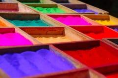 De Kleurstoffen van het poeder Royalty-vrije Stock Foto