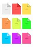 De kleverige geplaatste nota's van de kleur Royalty-vrije Stock Foto