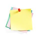 De Kleverige Nota's van de kleur Royalty-vrije Stock Foto