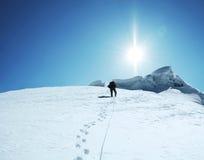 De klim stock foto