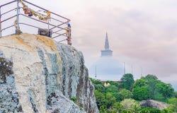 De klim op Aradhana Gala Rock royalty-vrije stock afbeeldingen