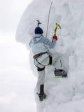 De klimmer van de ijsberg Stock Afbeelding