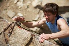 De klimmer van de rots Stock Fotografie