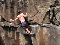 De klimmer van de rots Stock Foto