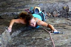 De klimmer van de rots Stock Foto's