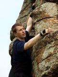 De klimmer van de rots. Stock Fotografie