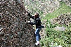 De klimmer van de rots het knippen bout Royalty-vrije Stock Foto's