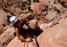 De klimmer van de vrouw Royalty-vrije Stock Afbeeldingen
