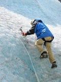 De klimmer van het ijs Royalty-vrije Stock Afbeeldingen