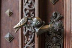 De klink op de poort van nad Vltavou van kasteelhluboka Royalty-vrije Stock Foto