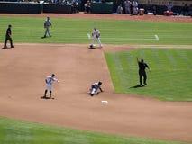 De Klip Pennington van Shortstop werpt aan eerste Royalty-vrije Stock Afbeelding