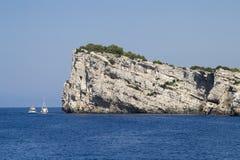De Klip van Otok van Dugi bij Kornati Eilanden, Kroatië. Royalty-vrije Stock Foto