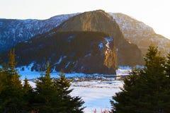 De klippen bij zonsondergang Stock Foto
