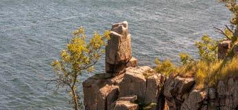 De klippen van Bornholms Royalty-vrije Stock Afbeelding