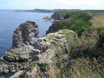 De klippen van Bretagne Stock Afbeelding
