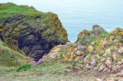 De klippen van Cornwall stock foto's
