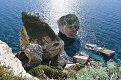 De klippen van Corsica, Frankrijk Stock Afbeeldingen