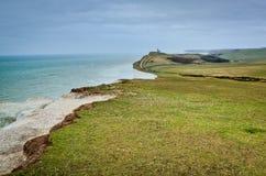 De klippen van de kust. Mooi landschap in de zomer Stock Foto