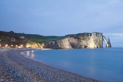 De klippen van Etretat in Normandië Royalty-vrije Stock Afbeeldingen
