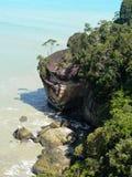 De klippen van het kustkalksteen Royalty-vrije Stock Foto